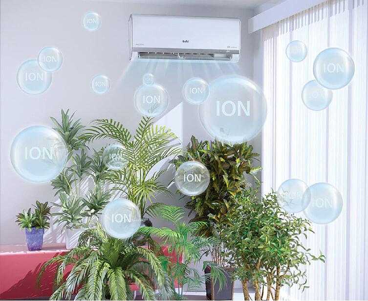 Встроенный ионизатор борется с запахами и бактериями.