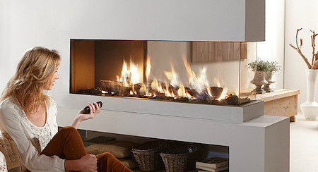 Нагреватель воздуха с имитацией живого огня