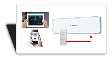 Кондиционерами SRK25ZS-S можно управлять прямо со своего смартфона или планшета через wi-fi.